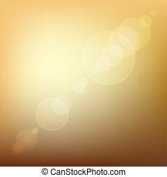 colorato, bagliore, astratto, light., lente, vettore, fondo, arancia, morbido