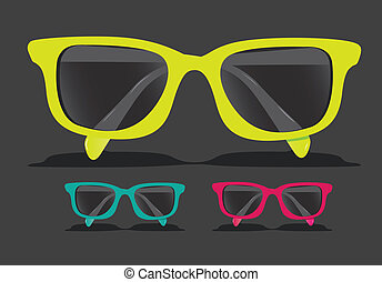 colorato, occhiali