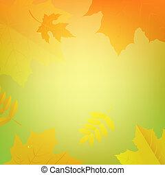 colore autunno, foglie, bandiera