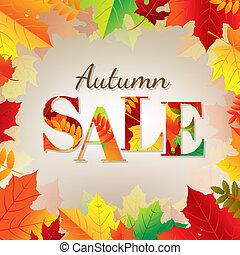 colore bandiera, foglie, vendita, autunno