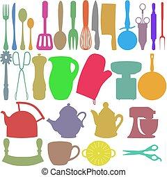 colore, oggetti, cucina