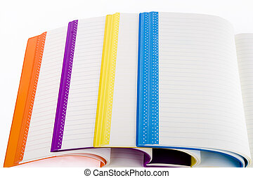 colore, quaderni, aperto