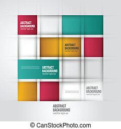 colore quadrato, astratto, fondo., vettore, geometrico