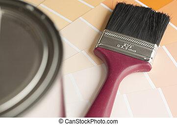 colore, spazzola, scegliere, tuo, ;, verniciare campione, fuoco