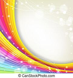 colori arcobaleno, fondo, scintille
