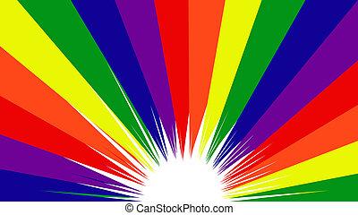 colori arcobaleno, orgoglio, gaio, fondo