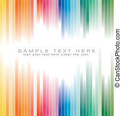 colori, arcobaleno, priorità bassa strisce, opuscolo
