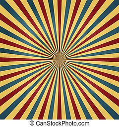 colori, circo, sunburst, fondo
