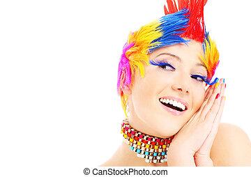 colori, faccia felice