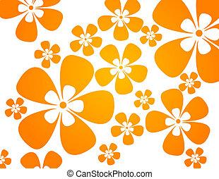 colori, riscaldare, fiori, fondo