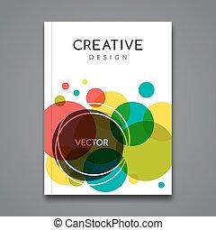 colorito, affari, manifesto, astratto, volantini, vettore, fondo, placards., opuscolo, manifesti, tamplate, aviatore, template.