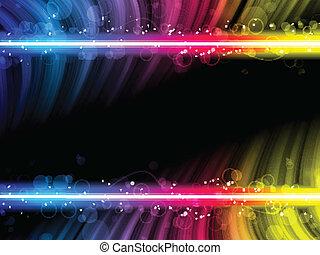 colorito, astratto, discoteca, sfondo nero, onde