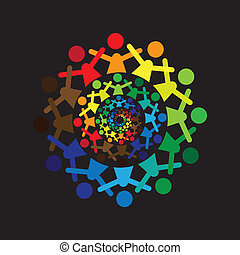 colorito, astratto, insieme, graphic-, vettore, icons(si, bambini, concetto