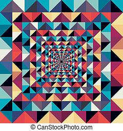 colorito, astratto, pattern., seamless, effetto, visuale, retro