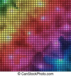 colorito, astratto, spettro, fondo., vettore, mosaico