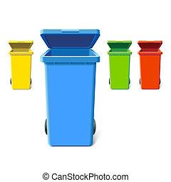 colorito, bidoni, riciclaggio