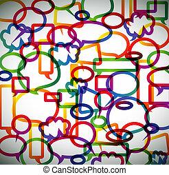colorito, bolle, fondo, fatto, discorso