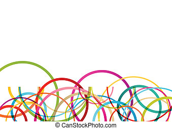 colorito, colorare, astratto, linee, illustrazione, rotondo, vettore, fondo, onde, cerchio, ellisse, mosaico