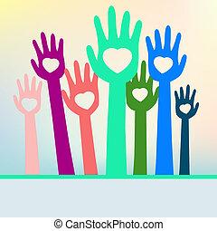 colorito, eps, space., mani, 8, copia, amare