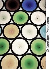 colorito, finestra, fondo, vetro