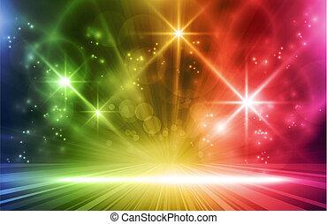 colorito, fondo, effetti, luce
