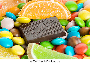 colorito, fondo, mescolato, dolci