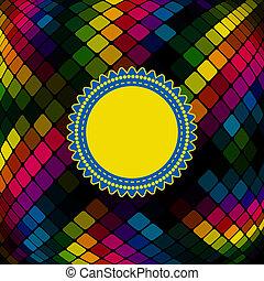 colorito, fondo, mosaico