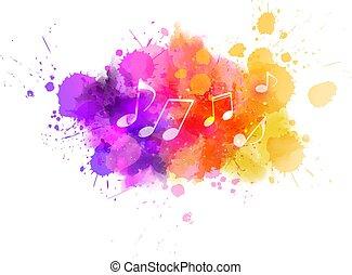 colorito, fondo, musica