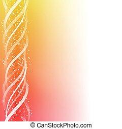colorito, linee, giallo, fondo., ardendo, rosso