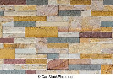 colorito, mattone, struttura, parete, fondo.