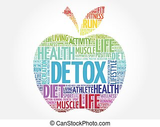 colorito, mela, detox