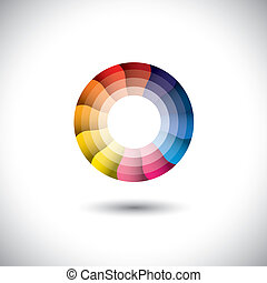 colorito, moderno, luminoso, vettore, trendy, cerchio, icona