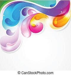 colorito, schizzo, astratto, vernice, vettore, fondo
