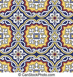colorito, tegole, ornamento, seamless