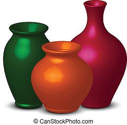 colorito, vasi