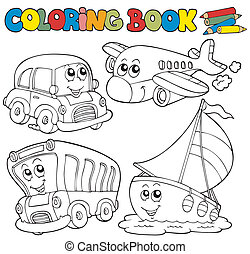 coloritura, vario, libro, veicoli