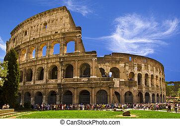 colosseo, nome, relativo, flavian, :, anfiteatro, originale