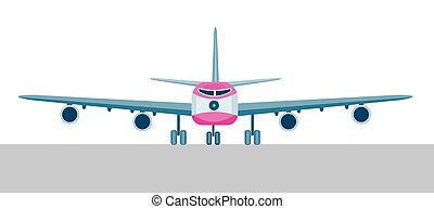colosso, aereo, jet