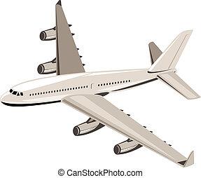 colosso, aereo, volo, jet