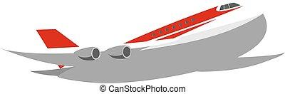 colosso, aeroplano commerciale, jet