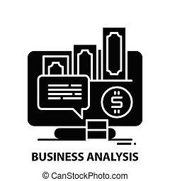 colpi, analisi, illustrazione, vettore, concetto, icona, nero, segno, editable, affari
