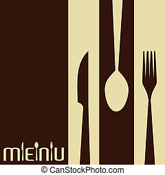 coltelleria, sagoma, menu, scheda