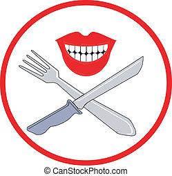 coltello, forchetta, simbolo