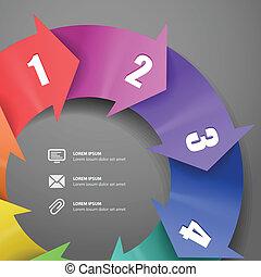 combinazioni colori, moderno, sagoma, infographic