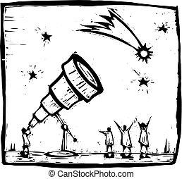 cometa, telescopio