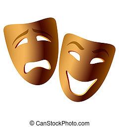 commedia, tragedia maschera