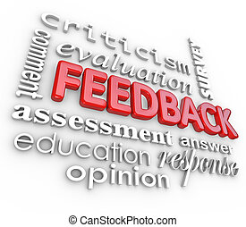 commento, parola, feedback, collage, revisione, valutazione, 3d