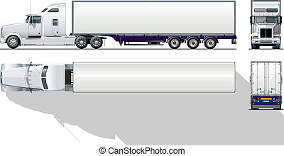 commerciale, hi-detailed, semi-camion