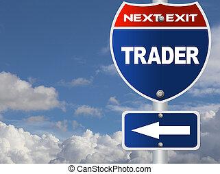 commerciante, segno strada