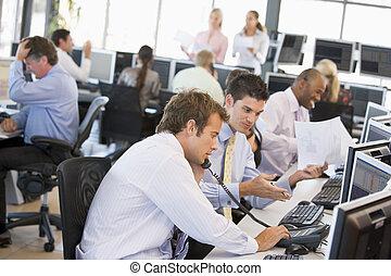 commercianti, occupato, casato, ufficio, vista